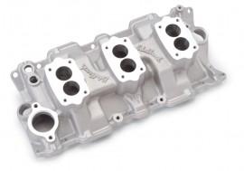 Edelbrock 5419 C357B 3-Deuce Intake Manifold - Standard Heads
