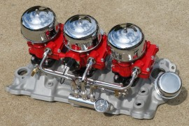 """Rochester Tri-Power Complete """"Custom Finished"""" Systems"""