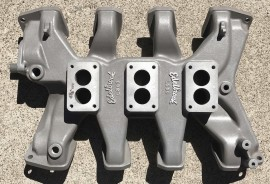 Edelbrock L300 - Lincoln Mercury 3-Deuce Intake Manifold