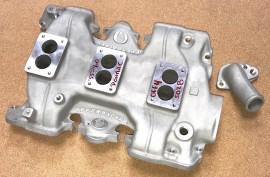 Offenhauser #5028 - 1955 thru 1960 Pontiac Tripower Intake Manifold